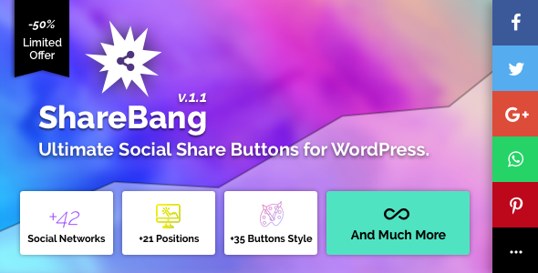 CodeCanyon ShareBang Ultimate Social Share Buttons for WordPress 20816539