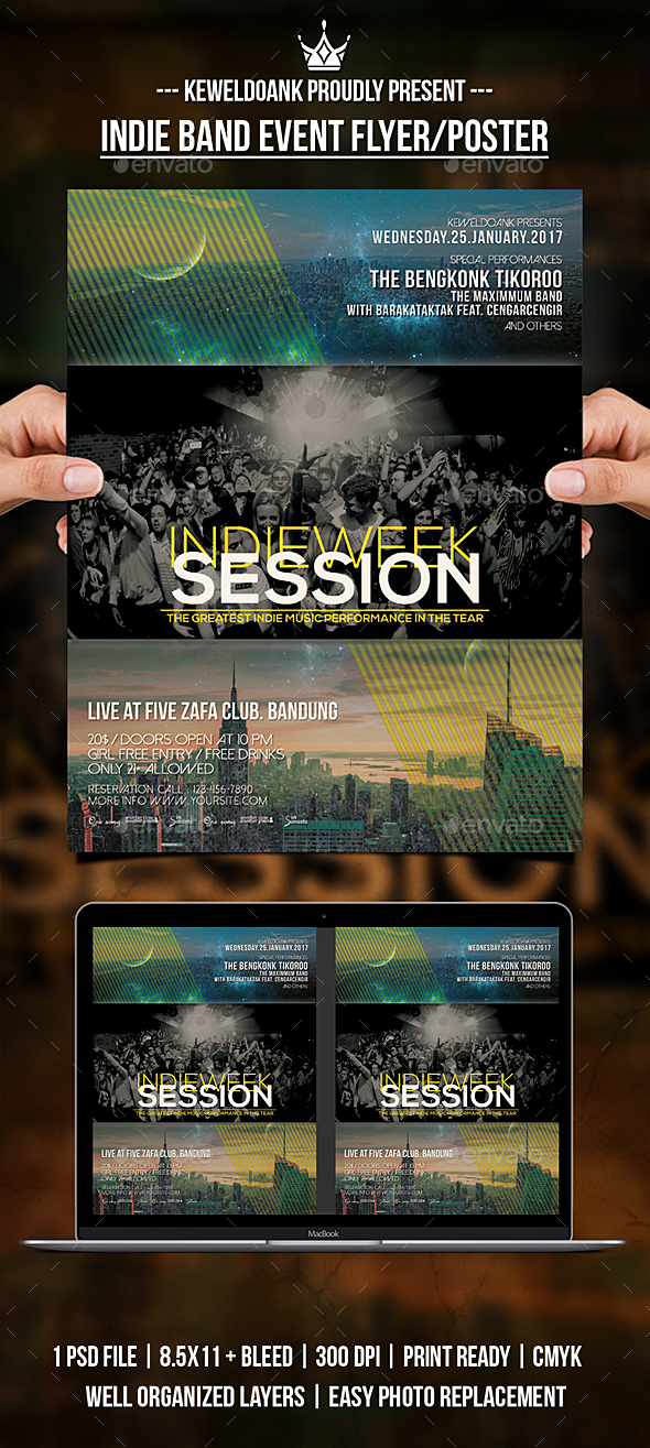 GraphicRiver Indie Band Event Flyer Poster 20849878