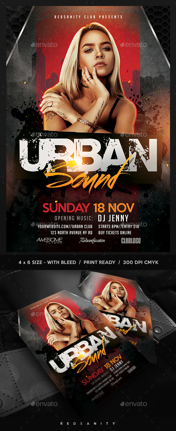 GraphicRiver Urban Sound Flyer 20849881