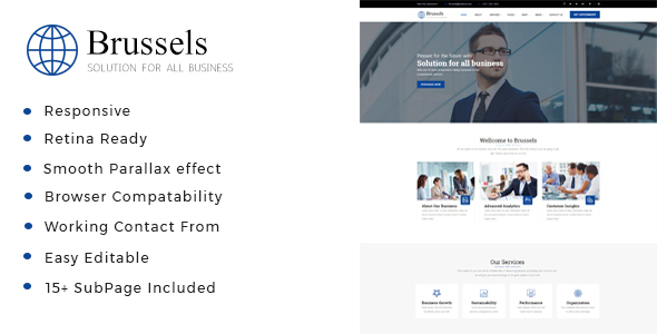 Image of Brussels - Business Consulting and Professional Services HTML Template