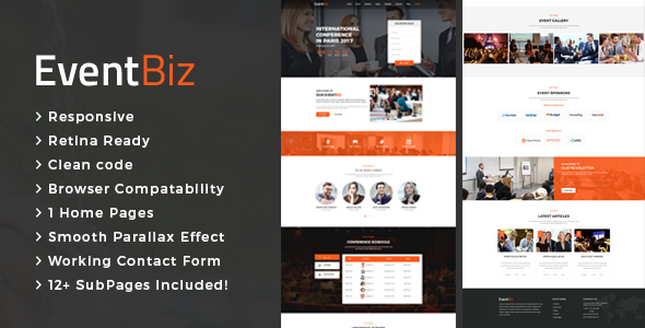 ThemeForest EventBiz Conference & Event HTML Template 20849992