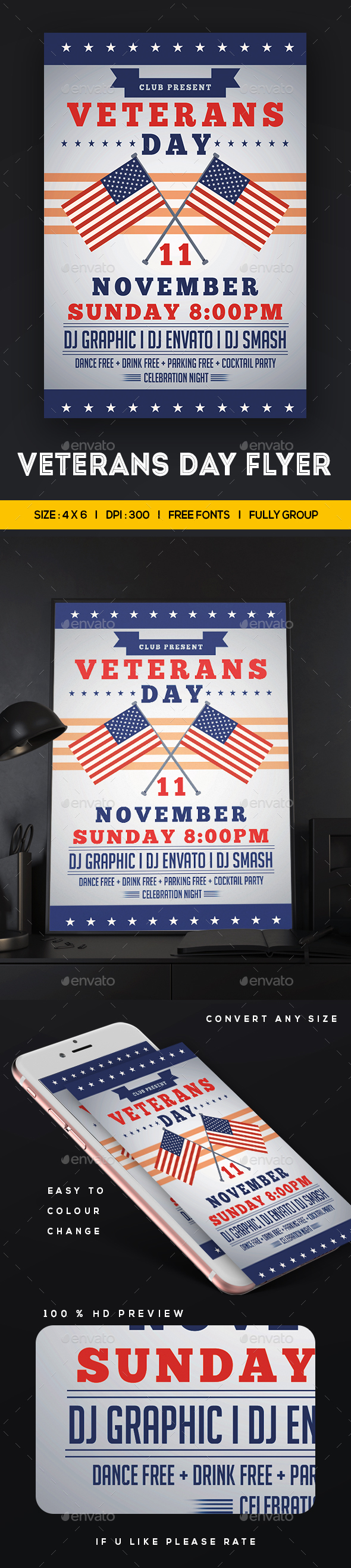 GraphicRiver Veterans Day Flyer 20849993