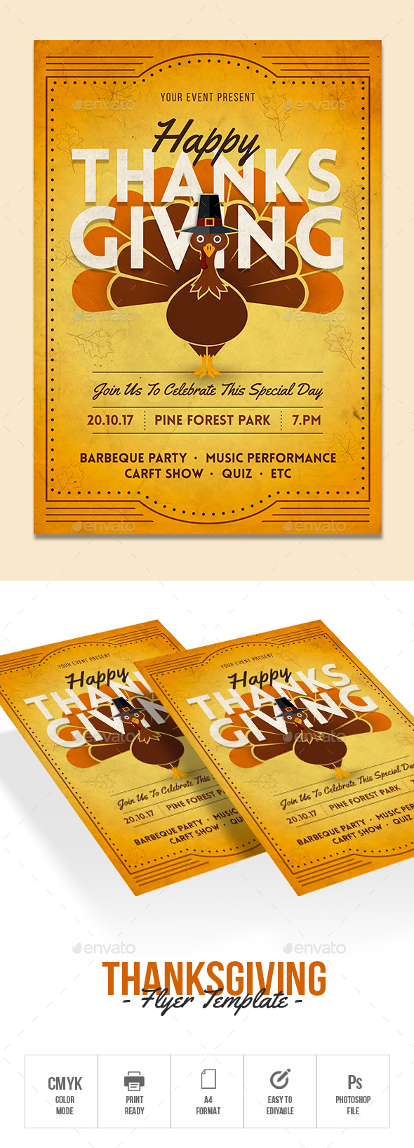 Thanksgiving - Flyers Print Templates