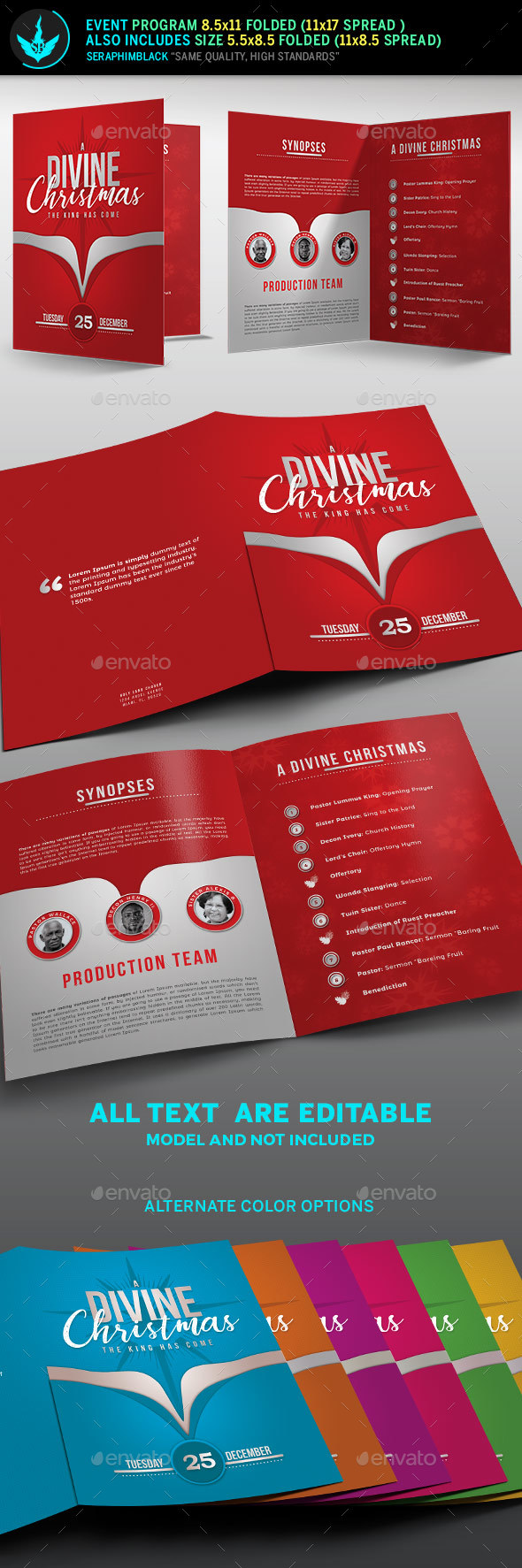 A Divine Christmas Program Template - Informational Brochures