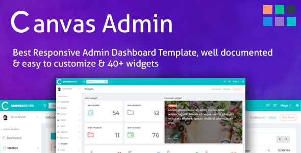 Download Canvas Admin Template - PowerFul Admin Dashboard Web App Kit