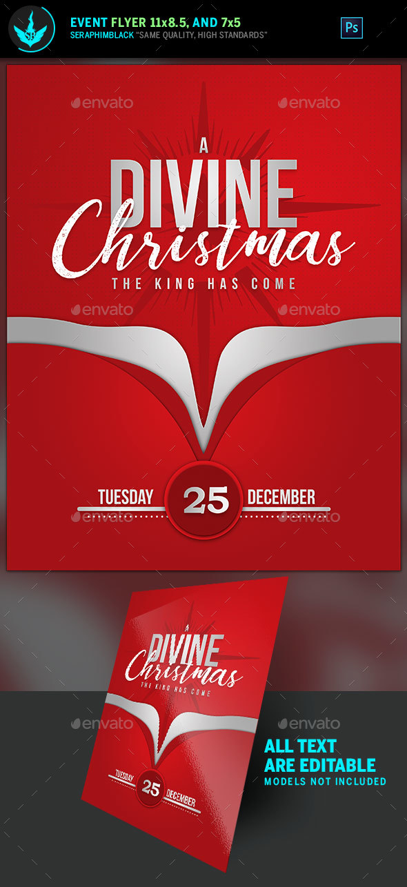 A Divine Christmas Flyer Template - Holidays Events