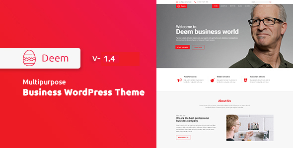 Deem - Multipurpose Business WordPress Theme