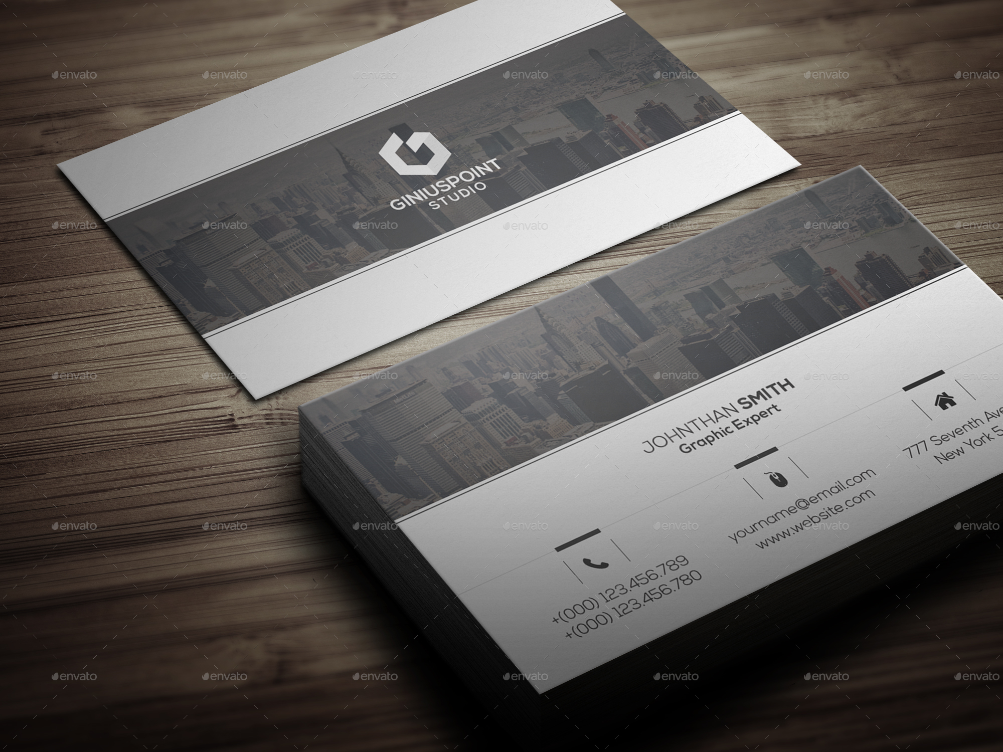 Corporate Business Card Bundle by GeniusPoint