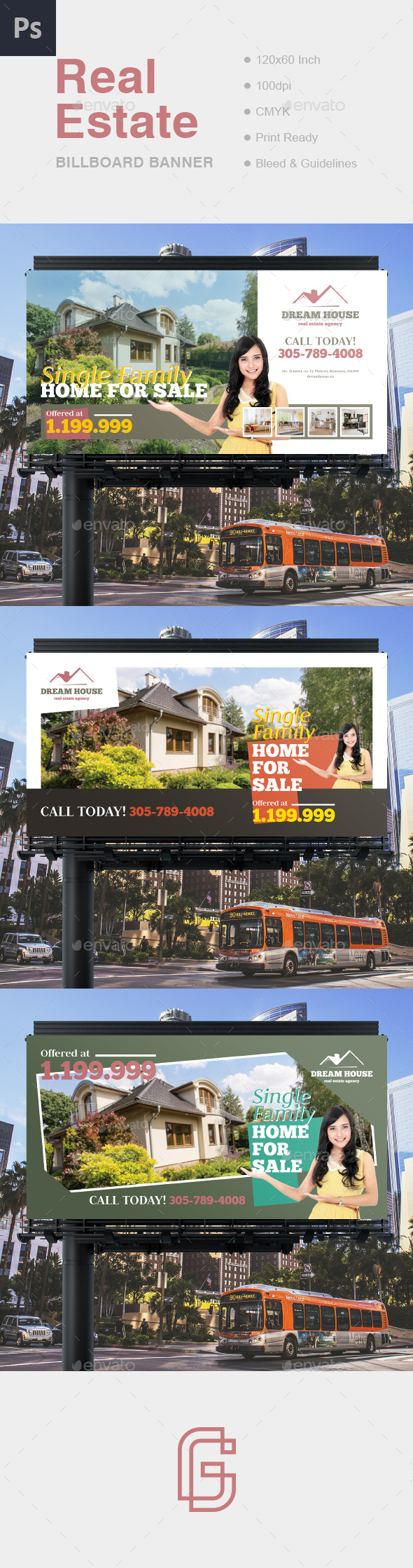 Real Estate Billboard Banner - Signage Print Templates