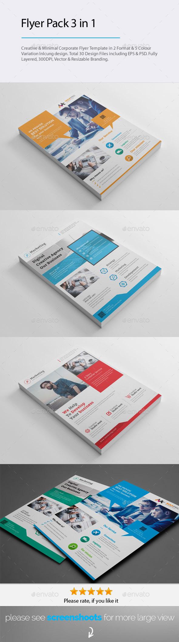 GraphicRiver Flyer Pack Bundle 20850383