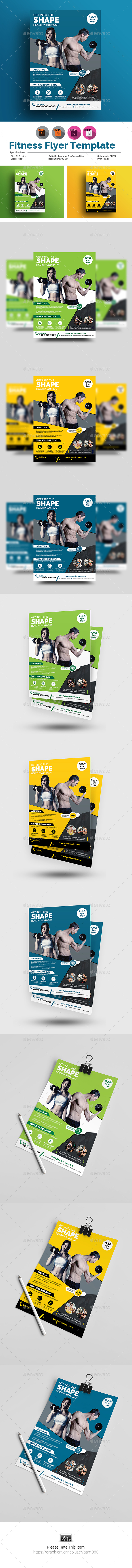 Fitness or Gym Flyer Template