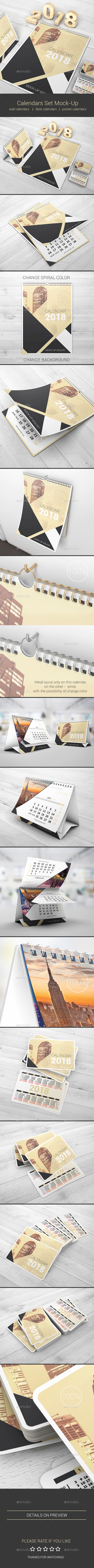 Calendars Set Mock-Up