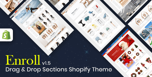 Enroll - Multipurpose Responsive Shopify Theme (Sections Ready) - Shopify eCommerce