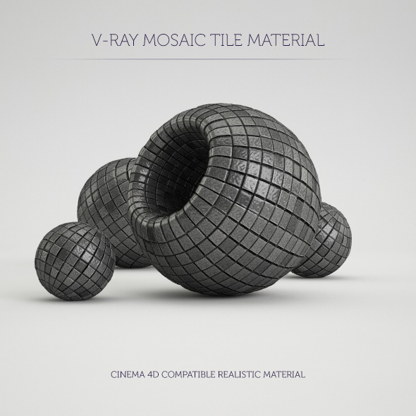C4D V-Ray Mosaic Tile Material - 3DOcean Item for Sale