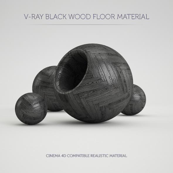 3DOcean C4D V-Ray Black Wood Floor Material 20850566