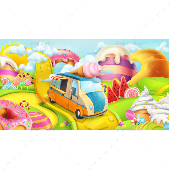 GraphicRiver Sweet Candy Land 20850643