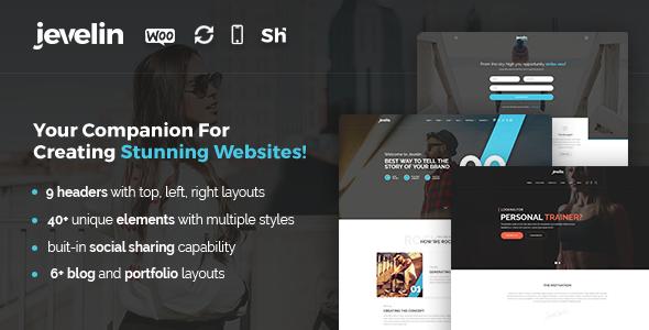 Jevelin Multi-Purpose Premium Responsive WordPress Theme - Creative WordPress