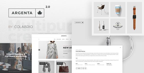 Argenta - Creative Multipurpose WordPress Theme