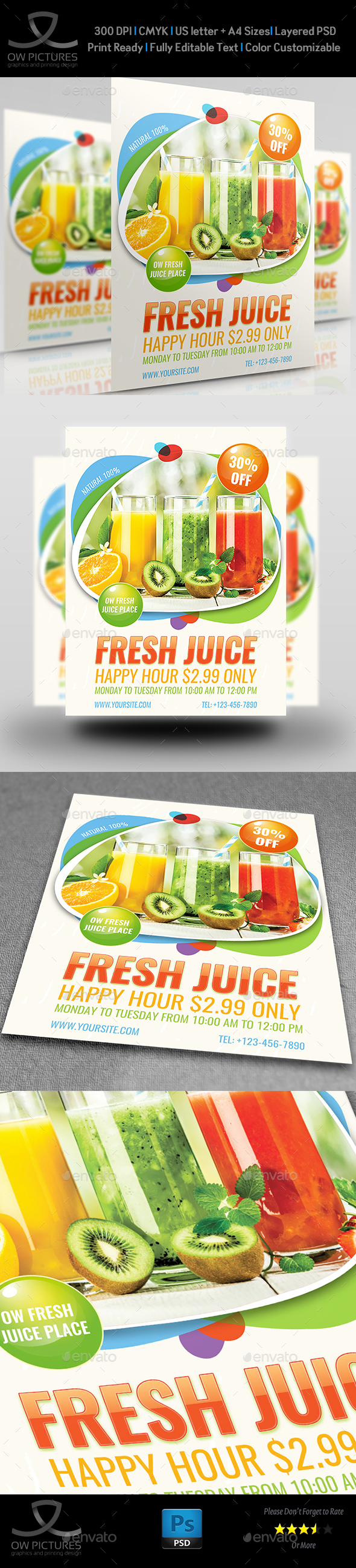 GraphicRiver Fresh Juice Flyer Template 20851218