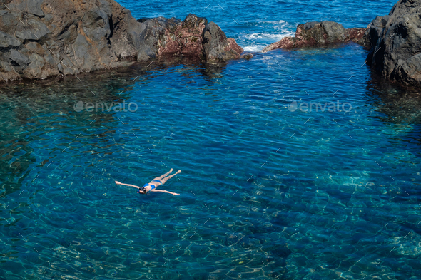 natural swimming pools on Tenerife island - Stock Photo - Images