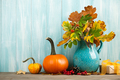 Thanksgiving background with fall decoration - PhotoDune Item for Sale