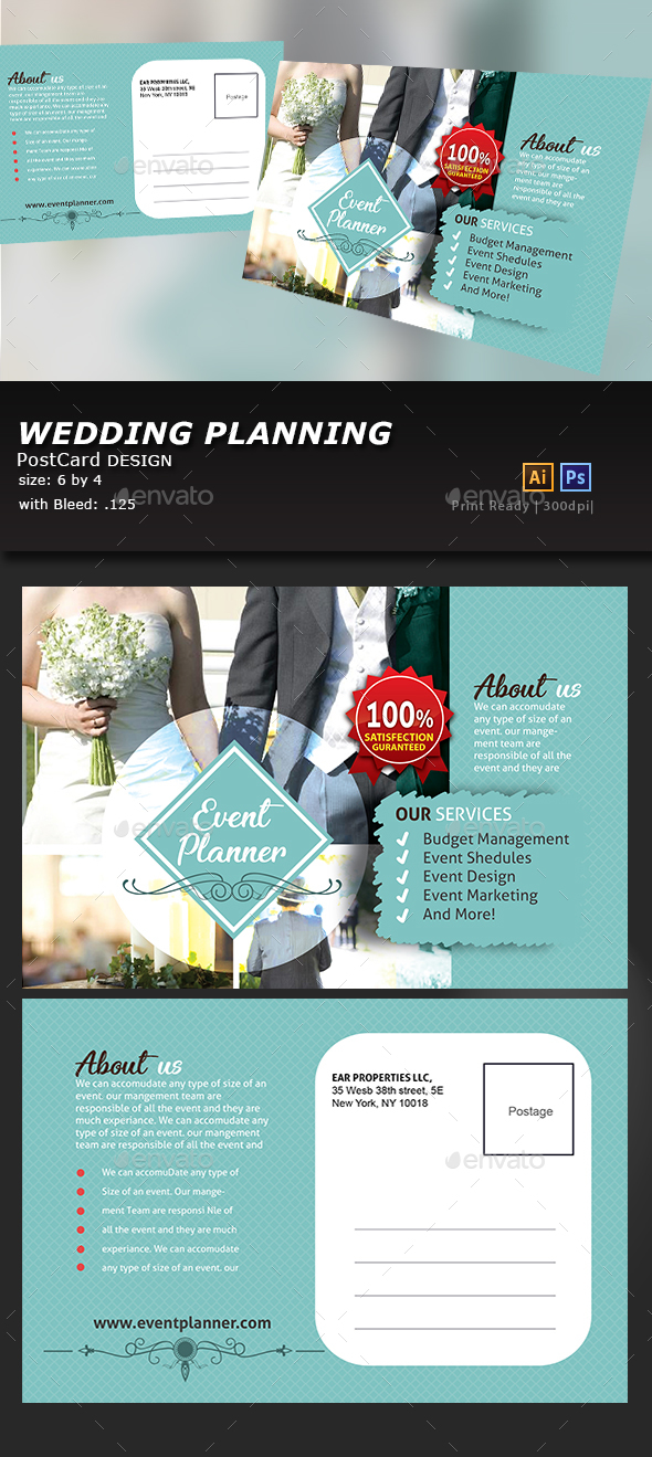 Wedding Event PostCard - Cards & Invites Print Templates