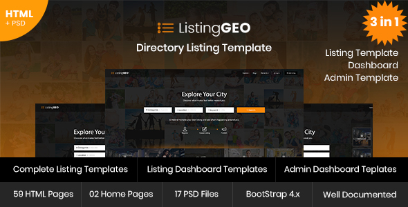 ListingGEO - Directory Listing Template
