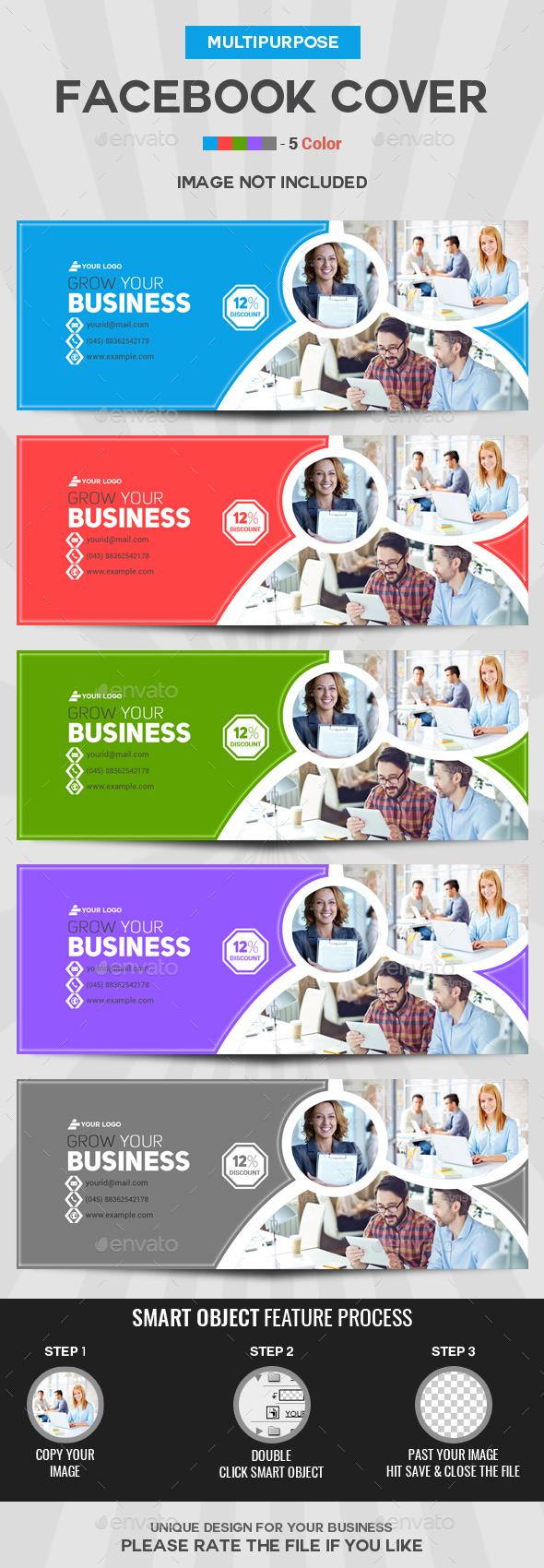 Facebook Cover - 5 Color - Facebook Timeline Covers Social Media
