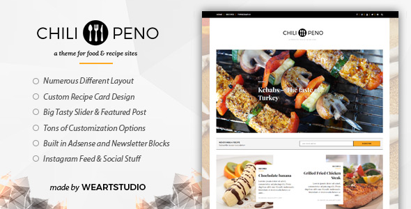 Chilipeno recipe food wordpress theme by weartstudio themeforest images01imagepreviewg forumfinder Image collections