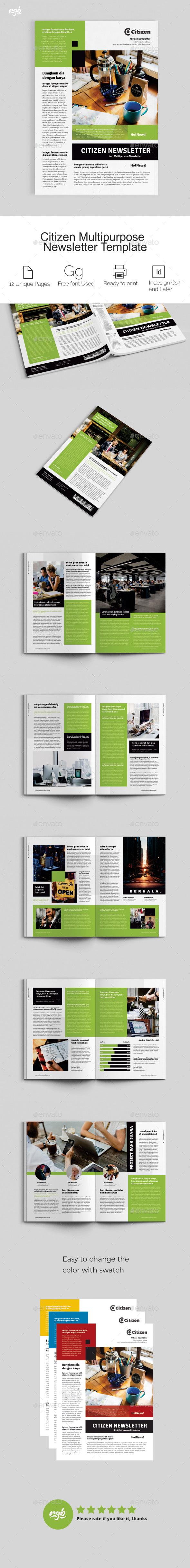 Citizen Multipurpose Newsletter - Newsletters Print Templates