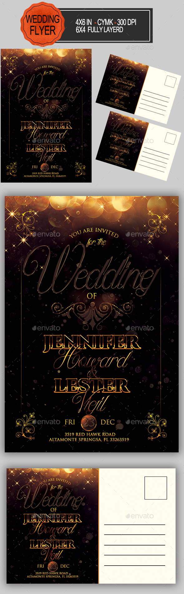 GraphicRiver Wedding Invitation 20852047