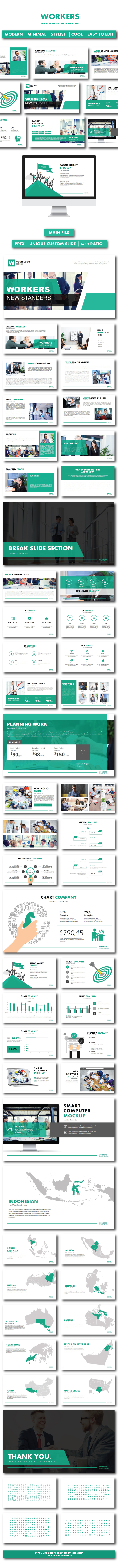 Workers Business PowerPoint Templates - PowerPoint Templates Presentation Templates