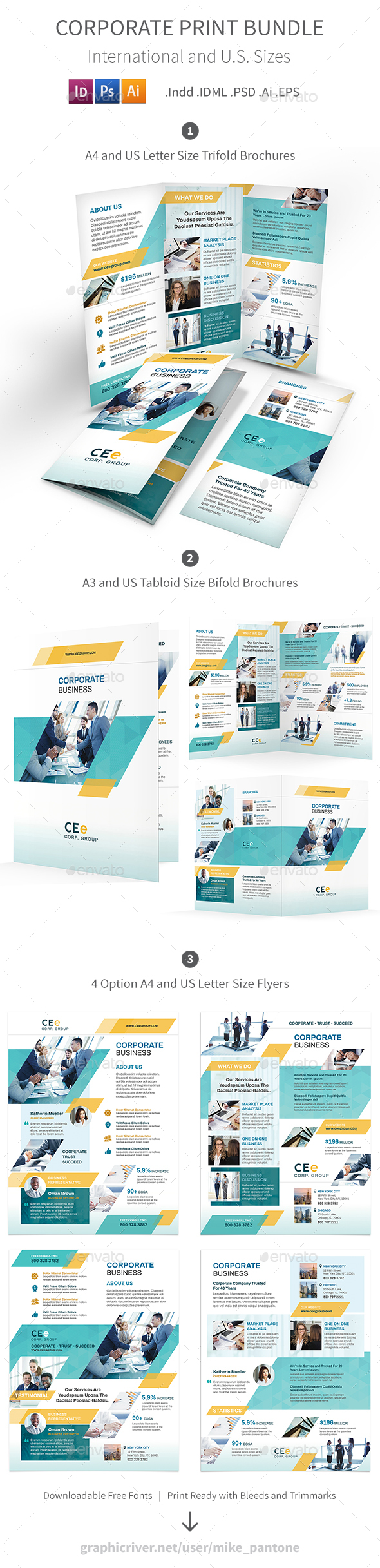 Corporate Print Bundle 5 - Corporate Brochures