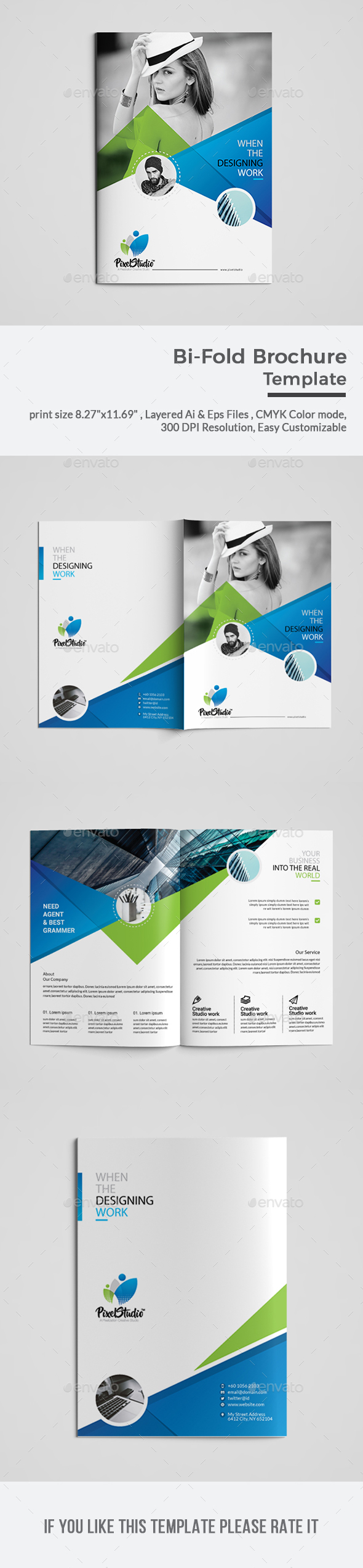 GraphicRiver Bi-Fold Brochure Template 20852208