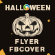 Halloween Day Flyer and Facebook Cover Template