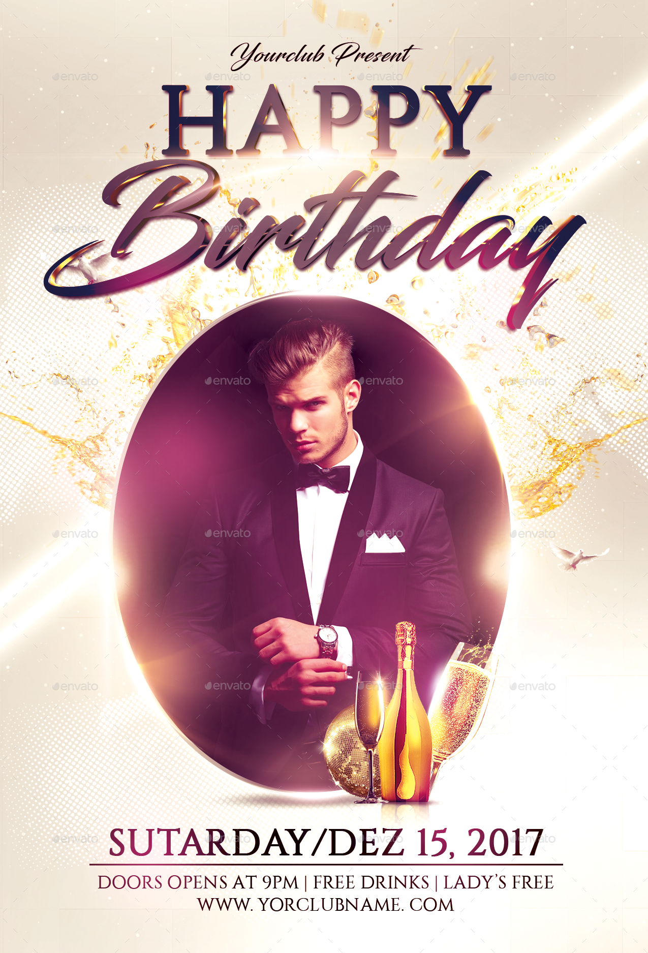 happy birthday flyer by fas