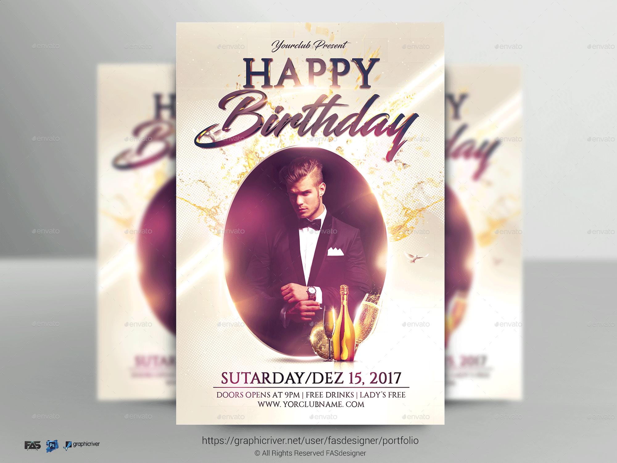 happy birthday flyer by fas design graphicriver