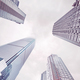 Looking up at skyscrapers in clouds, Chongqing, China. - PhotoDune Item for Sale