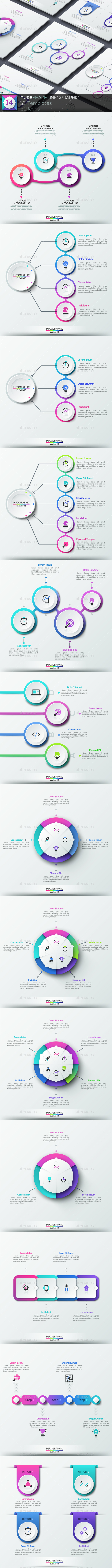 GraphicRiver Pure Shape Infographic Set 14 20852765