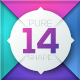 Pure Shape Infographic. Set 14