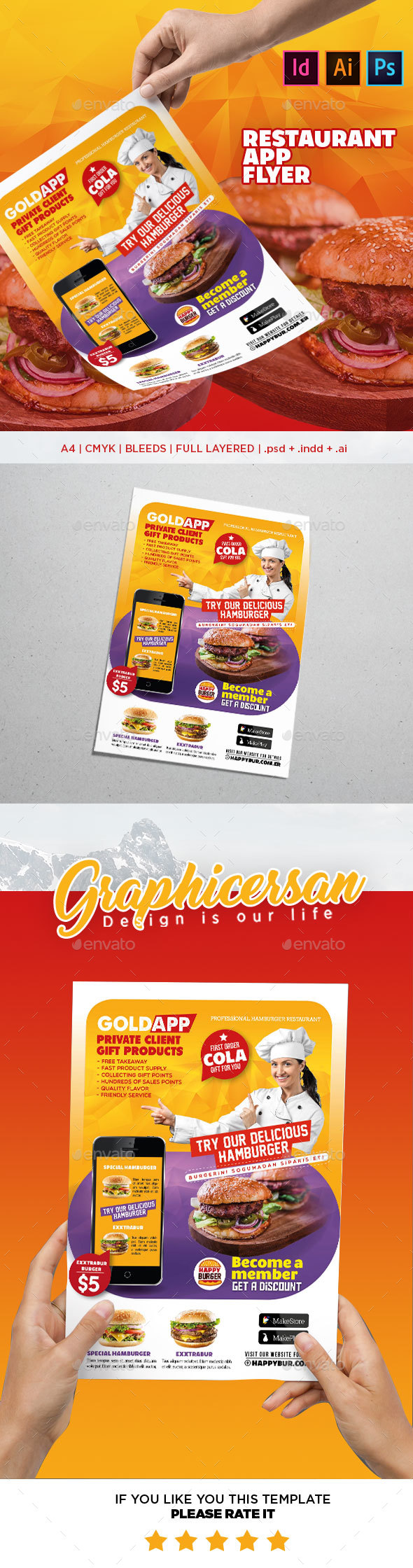 Restaurant App Flyer - Corporate Flyers