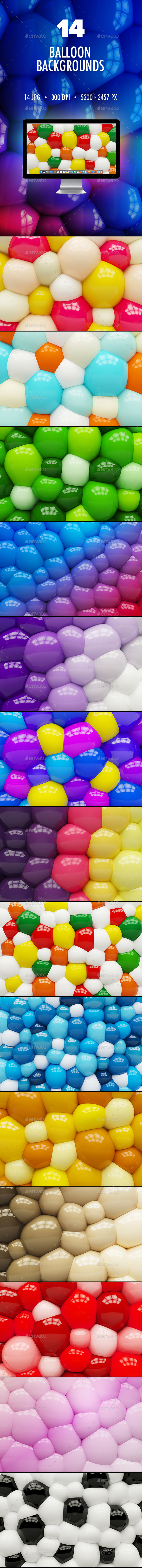 14 Balloon Backgrounds - 3D Backgrounds