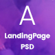 Appian Landing page PSD Template - ThemeForest Item for Sale