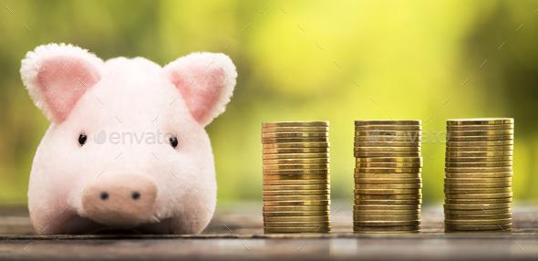 Money savings banner - Stock Photo - Images