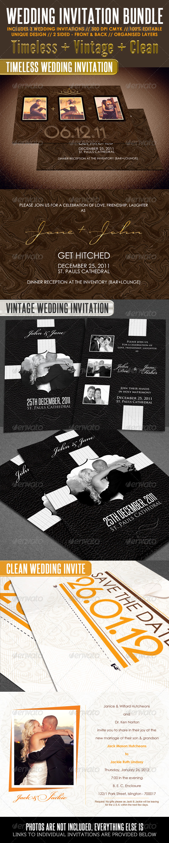 Wedding Invitation Bundle - Weddings Cards & Invites