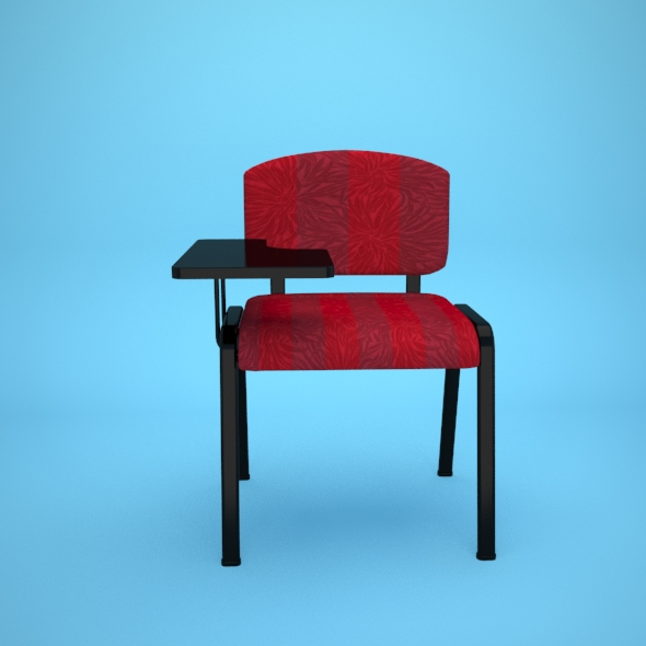 chair with writing table - 3DOcean Item for Sale