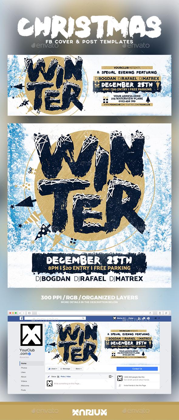 Winter Facebook Cover - Social Media Web Elements