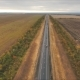 Aerial View on Tracks Between Agriculture Fields - VideoHive Item for Sale