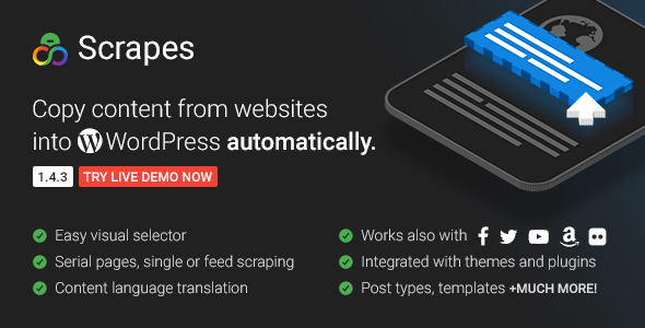 Scrapes - Automatic web content crawler and auto post plugin for WordPress - CodeCanyon Item for Sale