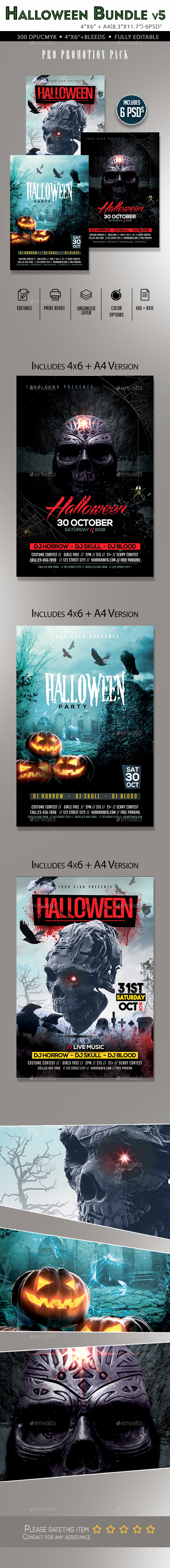 Halloween Flyer Bundle V5